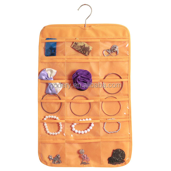 Hanging Jewelry Organizer With Pockets Hanging Jewelry Organizer