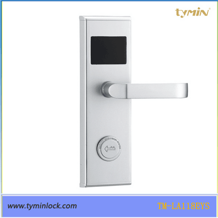 Popular EU Standard Latches Hotel Door Lock With RFID Card unlocking key card lock system