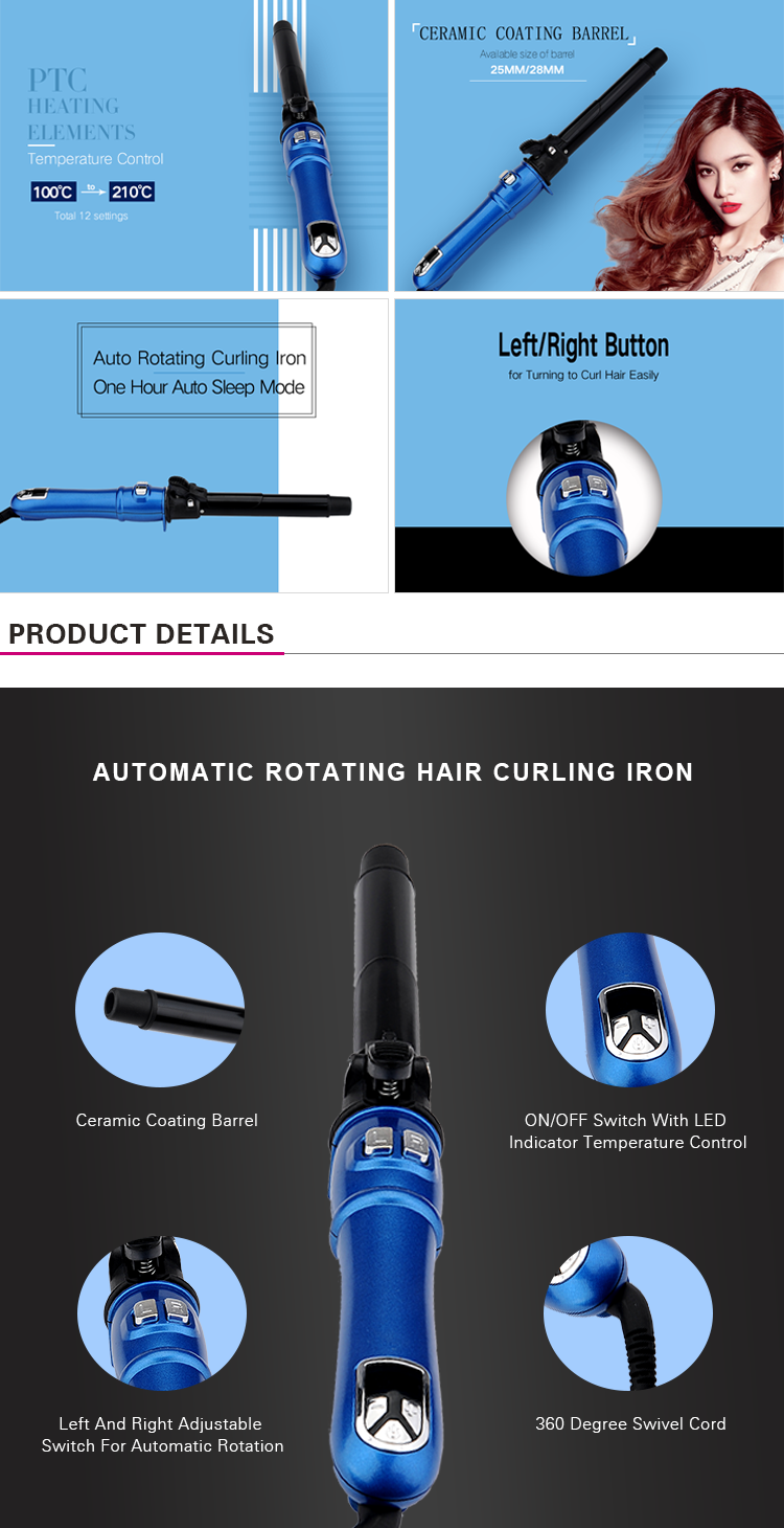 PRITECH Wholesale Cheap Price New Automatic Rotation Hair Curling Iron