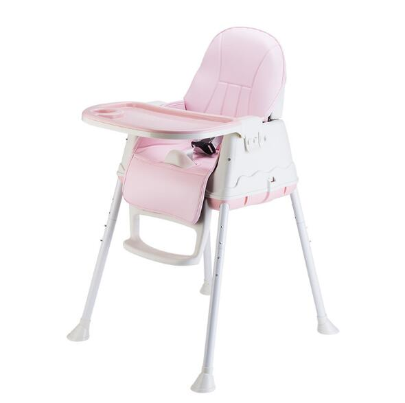 2019 hot sale Children Cushion Foldable Safety Plastic High baby Chair For feeding