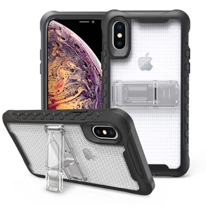premium crystal airbag shock proof case for iphone xs max 6.5' clear back cover