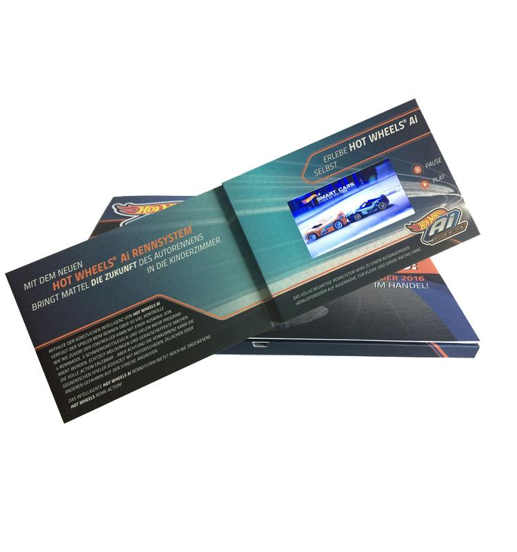 Video Brochure Karte In Plus Drucken Mit 4,3 Zoll Bildschirm