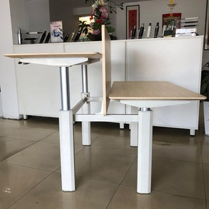 New double side gas lift pneumatic office desk table
