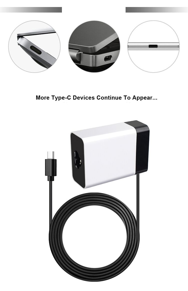 Hot selling 2464 20awg 24awg 26awg wall quick charger usb c type power adapter 45w usb c adapter