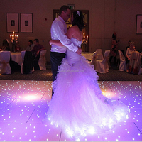 party or event acrylic led twinkling stage floor light led black/white starlit wedding interactive floor
