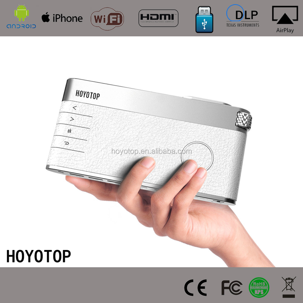 Mobile HD resolution pico portable projector wireless <strong>Internet</strong> access built-in battery