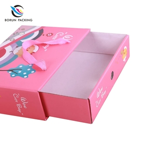 Factory supply good quality cartoon printed kids children gift set packaging paper box and bag