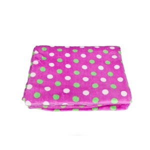 super soft printing coral fleece blanket plush coral fabric factory