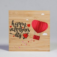 wood greeting card