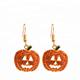 halloween pumpkin zinc alloy earring brooch badge set with diamond