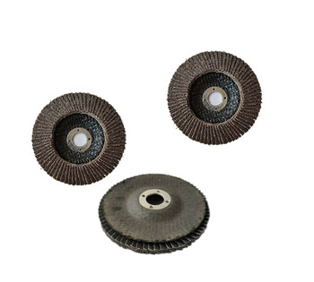 100mm  80 grit strong elastic black calcined abrasive sanding cloth flap disc,flat abrasive cloth wheel