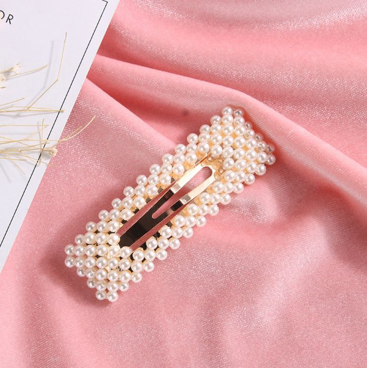 2019 Elegant Korea Hair Accessories Hairpin Side Folder Duckbill Simple Pearl Clip Headwear