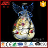 China factory lighted led glass angel ornaments