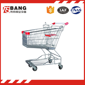 High Quality custom cheap double decker supermarket shopping trolley cart
