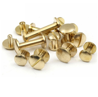 Brass Chicago screw for leather belt