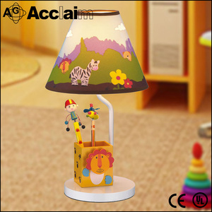 E14 220V green/sky blue children cartoon desk/table lamp/light for study room