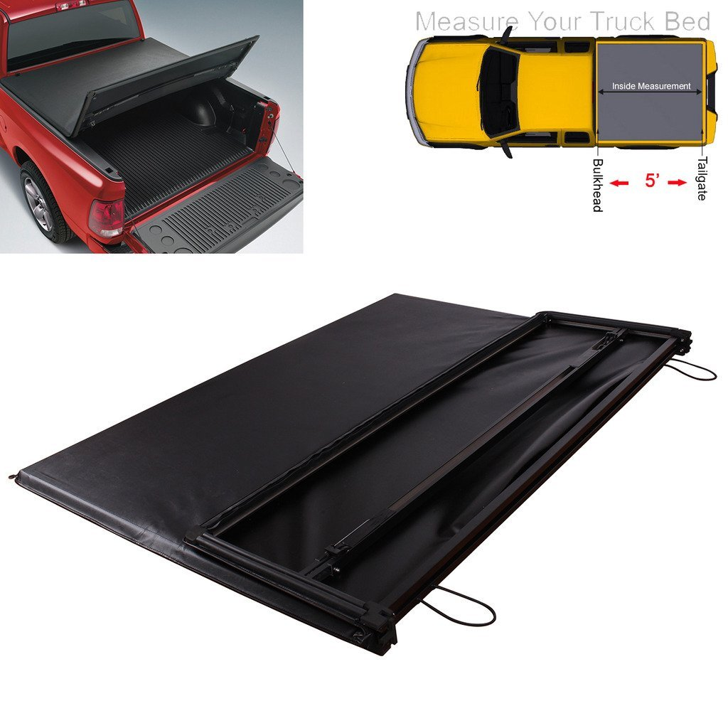 36e80066766 Get Quotations · RAFTUDRIVE Soft Tri-Fold Tonneau Cover Fit 2005-2014 Toyota  Tacoma 5  Bed