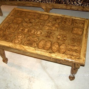 Exceptional Tunisian Olive Wood Table