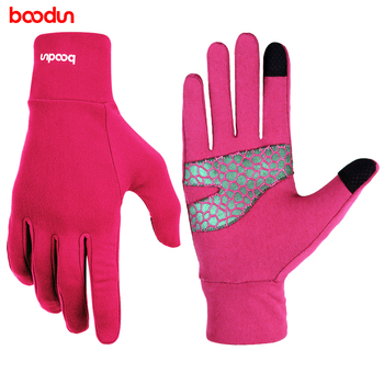 BOODUN Winter Warm Gloves Touch  Outdoor Cycling Gloves For Women custom made