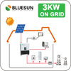 Bluesun solar panel system 3000w for house 3KW solar energy system