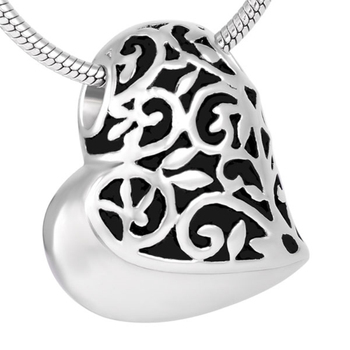 Cremation Ashes Jewellery 316L Stainless Steel Heart Shape Designed Memorial