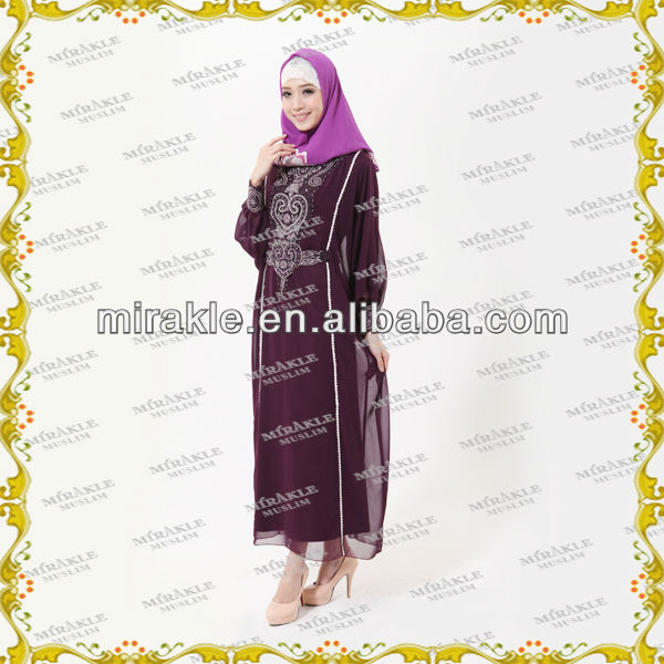 MF17160 Latest islam clothing DUBAI Dazzling Abaya Saudi women