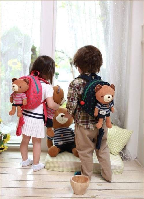 Retail new Children Toddler Kids Baby anti lost Cartoon Backpack Schoolbag Shoulder Bags animal bear 2014