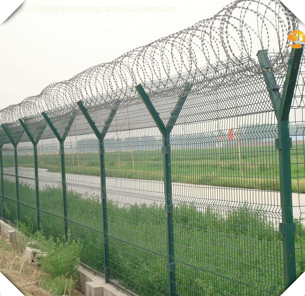 High security Fencing Airport Prison fence barb wire fence