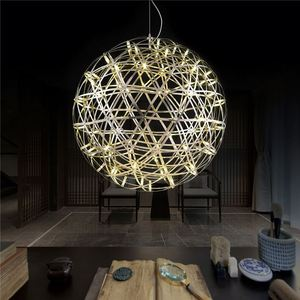 High Quality Living Room Metal Wire Ball Pendant Light Chandelier