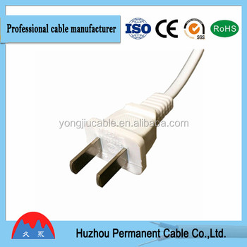 Usa Standard Ul Approved Plug 2 Pin Flat Non-polarized Ac Power Cord ...
