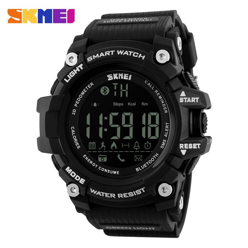 SKMEI 1227 Men Digital Watch 3D Pedometer Calories Chronograph Sport 50M Waterproof LED Digital Wristwatches фото