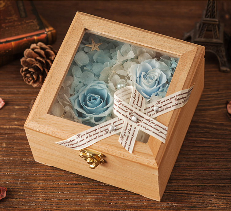 yunnan forever preserved roses flower in box as Christmas Day gift