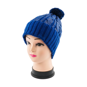 High Quality Thick Warm Winter Beanie Hat With Pom Pom Knit Beanie