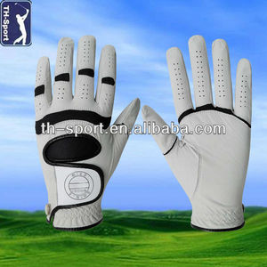 Brown Cabretta Leather OEM Golf Gloves