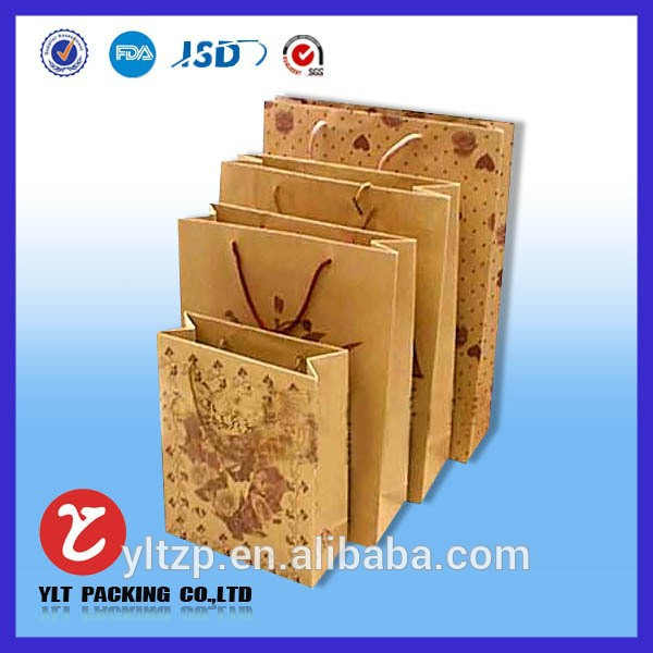 Craft shopping paper bag wholesale from alibaba