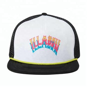 Guangjia Custom Made Neon Logo Mesh Flat Brim Rope Snapback Caps Trucker  Hats Wholesale 57cff628a19