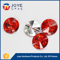 Good quality round acrylic rhinestone button