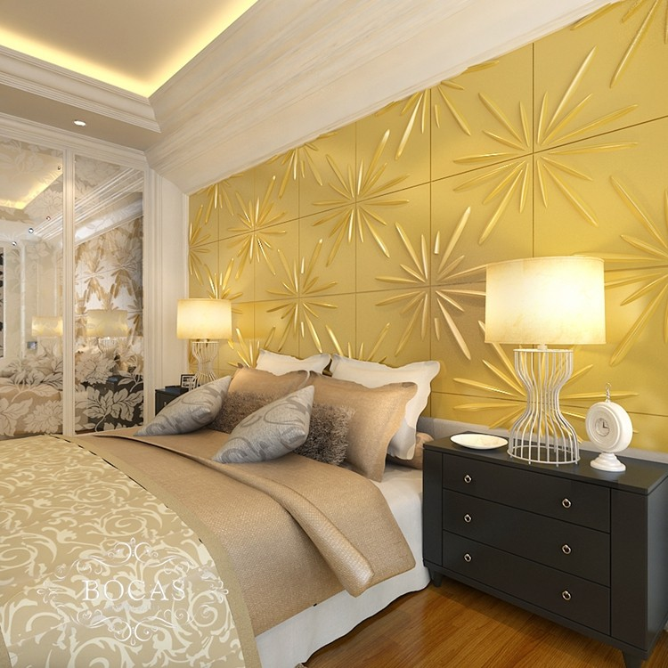 Economic new arrival Luxury Waterproof 3d bamboo fiber wall panel