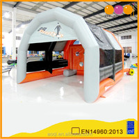Inflatable football pitch/good quality inflatable football game with free EN14960 certificate