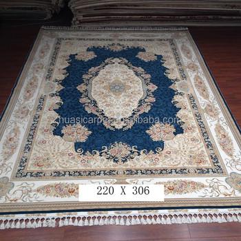 Peach Blossom Belgium Wool Carpet Handmade Wool Silk Blend Persian