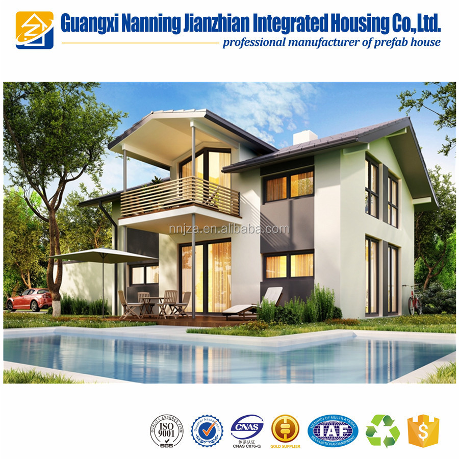 Quick Assembling Cost Save Two Layer Foamed Cement Board House with New Technology for Earthquake Proof Prefab House