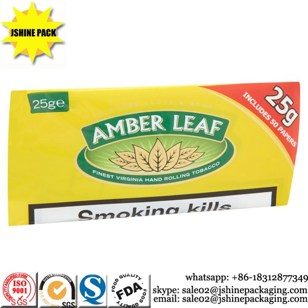 Gravure printed custom heat seal wholesale tobacco pouches
