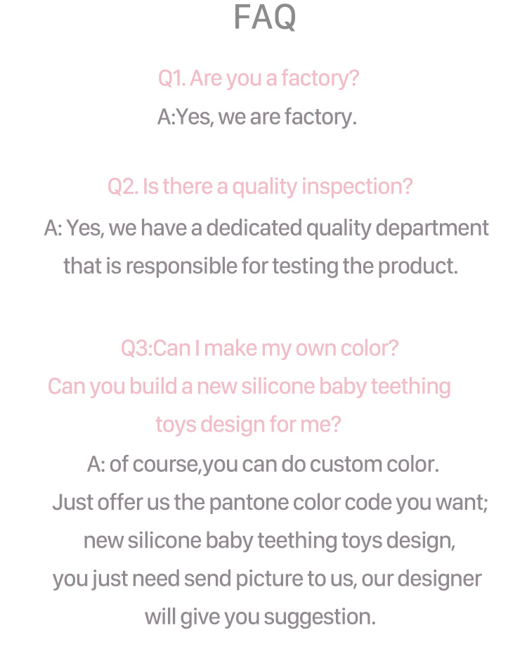 Custom Pendant FlamigoTeething Toy Silicone Baby Teether Wholesale
