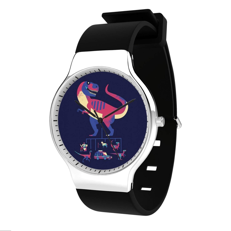 FELOOWSE Animal Men Watches Dinosaur Watch Men's Quartz Watches, Minimalist Slim Japanese Quartz Youth Silicone Watches, Fashion PracticalWaterproof Boys Watch Customized Watches
