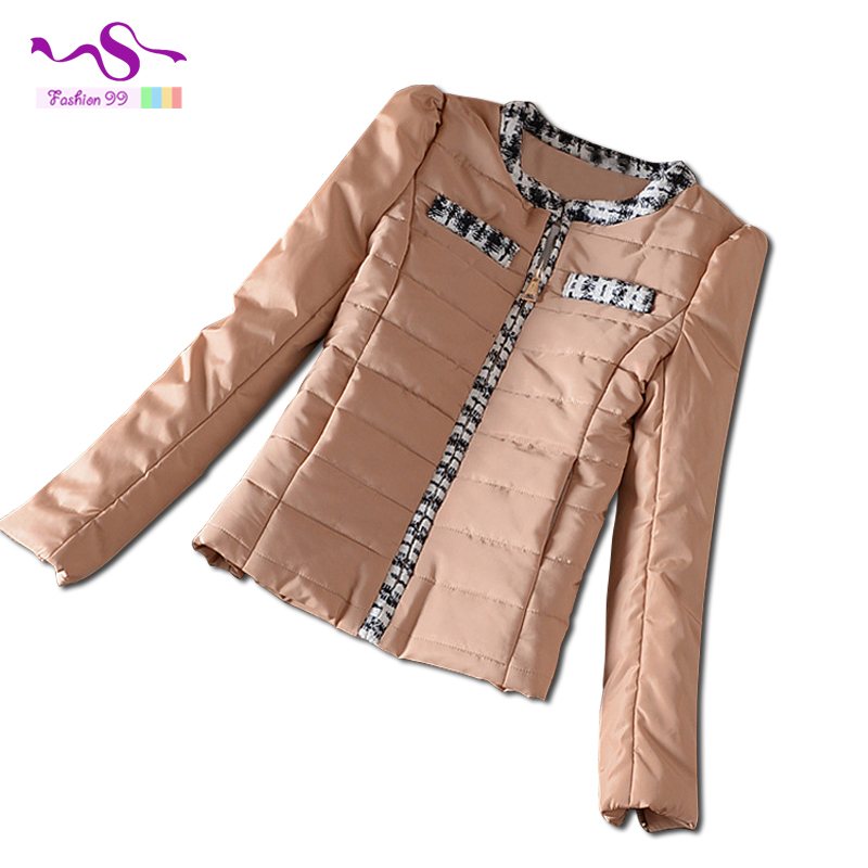 Fashion slim spliced white women cotton jacket 2015 autumn and winter new plus size female's parkas coat 4 colors YT153