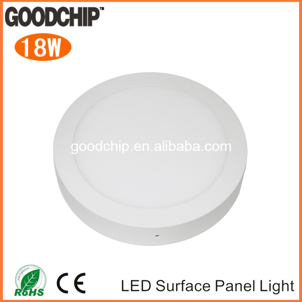 High quality and high cri epistar smd 2835 surface mounted led panel light 6w 12w 18w 24w led square panel WW NW PW CW
