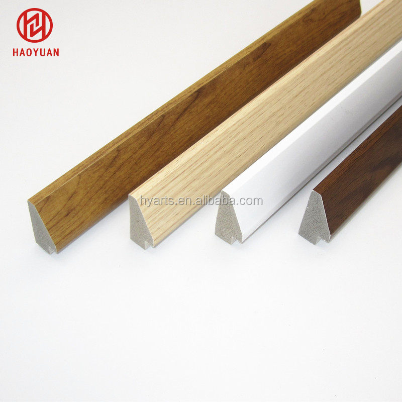 Beveled Wooden Grain PS Picture Frame Moulding,Triangular Shape Walnut Finish Polystyrene Photo Mouldings