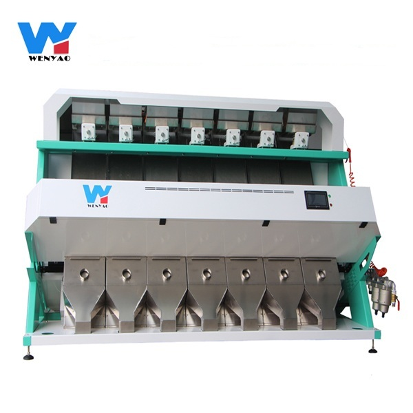 7 chutes Huisdier Vlokken/PVC/LDPE kleursorteerder machine