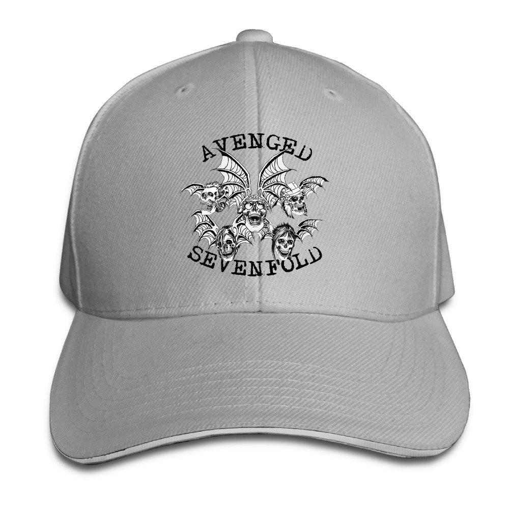 51c5ac3064d Get Quotations · Avenged Sevenfold Death Bat Unisex Cotton Cap Adjustable  Plain Hat