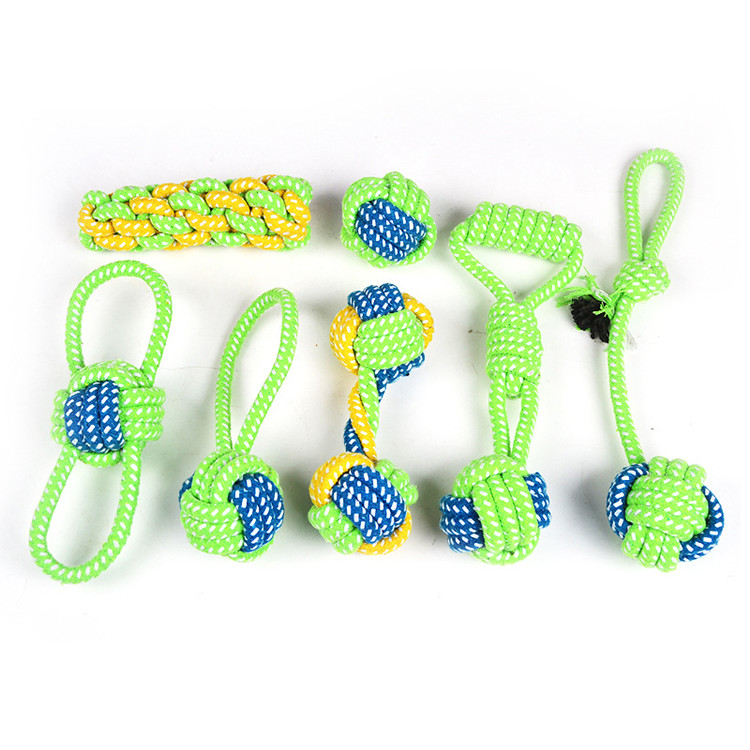 Amazon Hot Venda Pack Toy Pet Set Durable Dog Corda Mastigar Brinquedo Pet Brinquedos